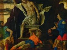 Andrea Mantegna Resurrezione di Cristo tempera e oro su tavola 1492-1493 Accademia Carrara
