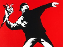 Flower Thrower, Screenprint, 2003, Private Collection_cover
