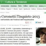 www.ansa.it/280513 | Festival dell'Inquietudine