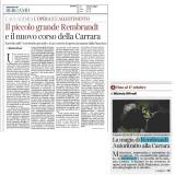 Corriere della Sera edizione Bergamo 10072021 | Rembrandt in una storia meravigliosa