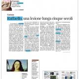 Corriere della Sera edizione Bergamo 17092020   Raffaello Custodi del Mito in Lombardia