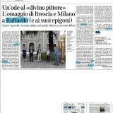 Corriere della Sera edizione Brescia 17092020   Raffaello Custodi del Mito in Lombardia
