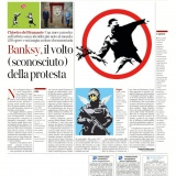 Corriere della Sera edizione Roma 04052021 | ALL ABOUT BANKSY Chiostro del Bramante