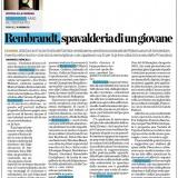 L'Eco di Bergamo 10072021 | Rembrandt in una storia meravigliosa
