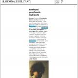 Il Giornale dell'Arte 082021 | Rembrandt in una storia meravigliosa