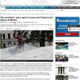 www.ilgiorno/milano/040512 | Do not think | Arte e sport