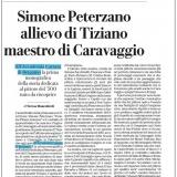 LaRepubblica Milano 06022020   Tiziano e Caravaggio in Peterzano