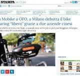 www.lastampa.it/190917 | mobike